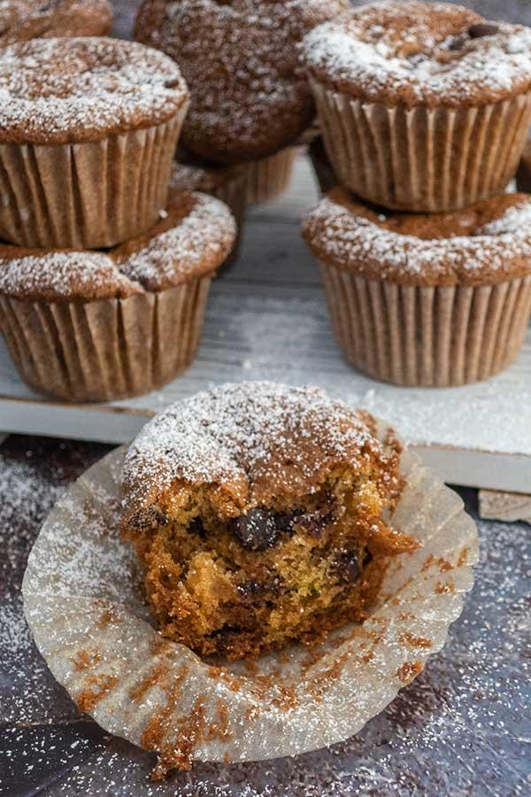 rice flour zucchini muffins